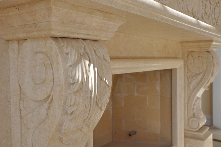 marble corbel and mantel fireplaces cream marble