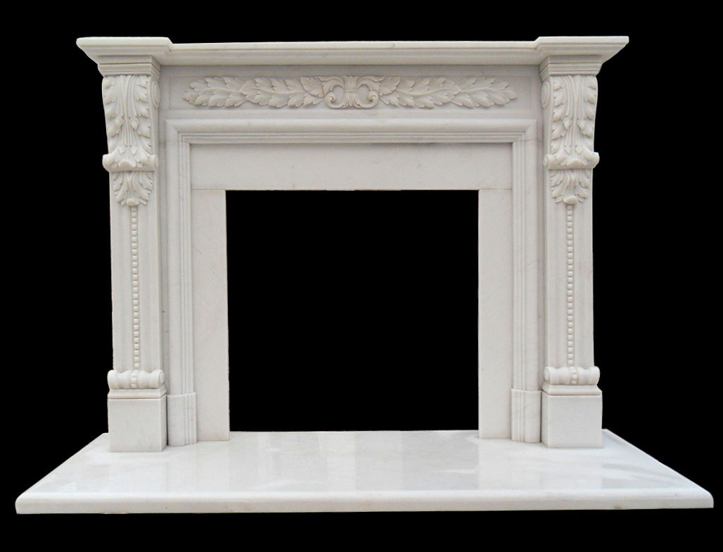 Hand carved stone fireplace surround the modern male for Marble mantels for sale