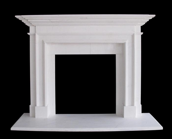 Traditional ii marble mantels sale white marble fireplaces for Marble mantels for sale