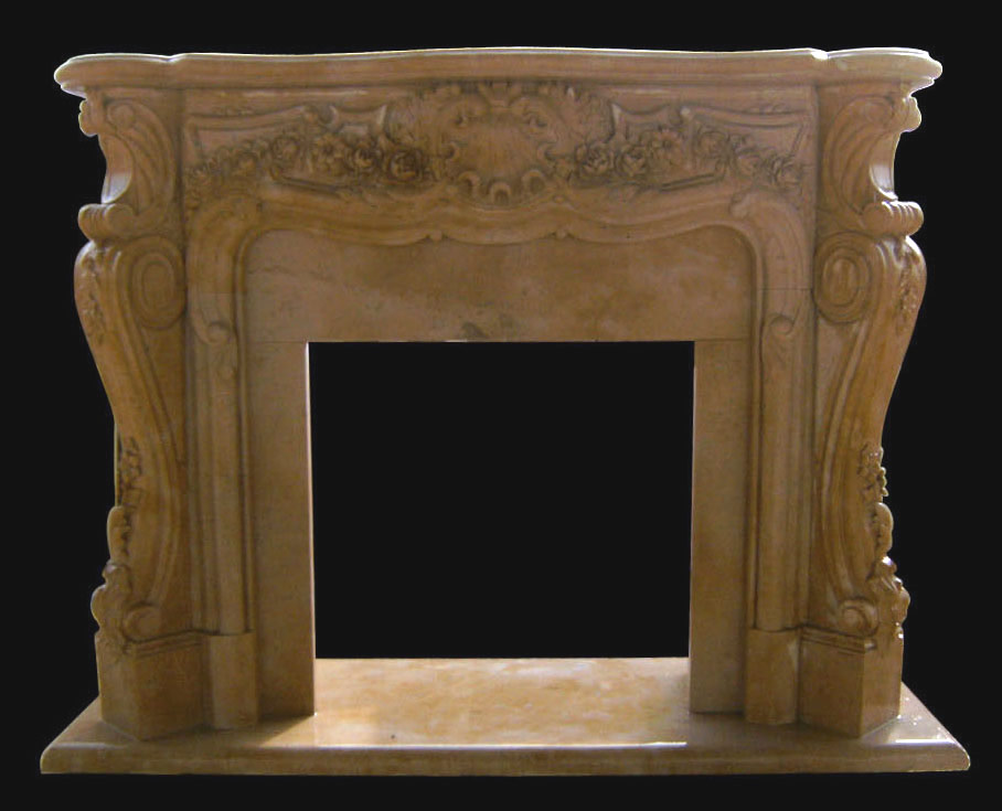 Sale Victoria Marble Fireplace - French - Ornate Floral - Hand Carved