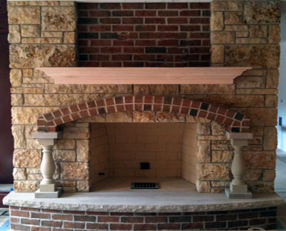Brick And Stone Fireplaces