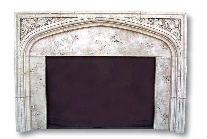 English tudor ii fireplaces cast stone gothic mantels for Tudor style fireplace
