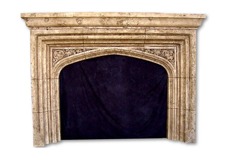 English tudor mantel fireplaces surrounds for Tudor style fireplace