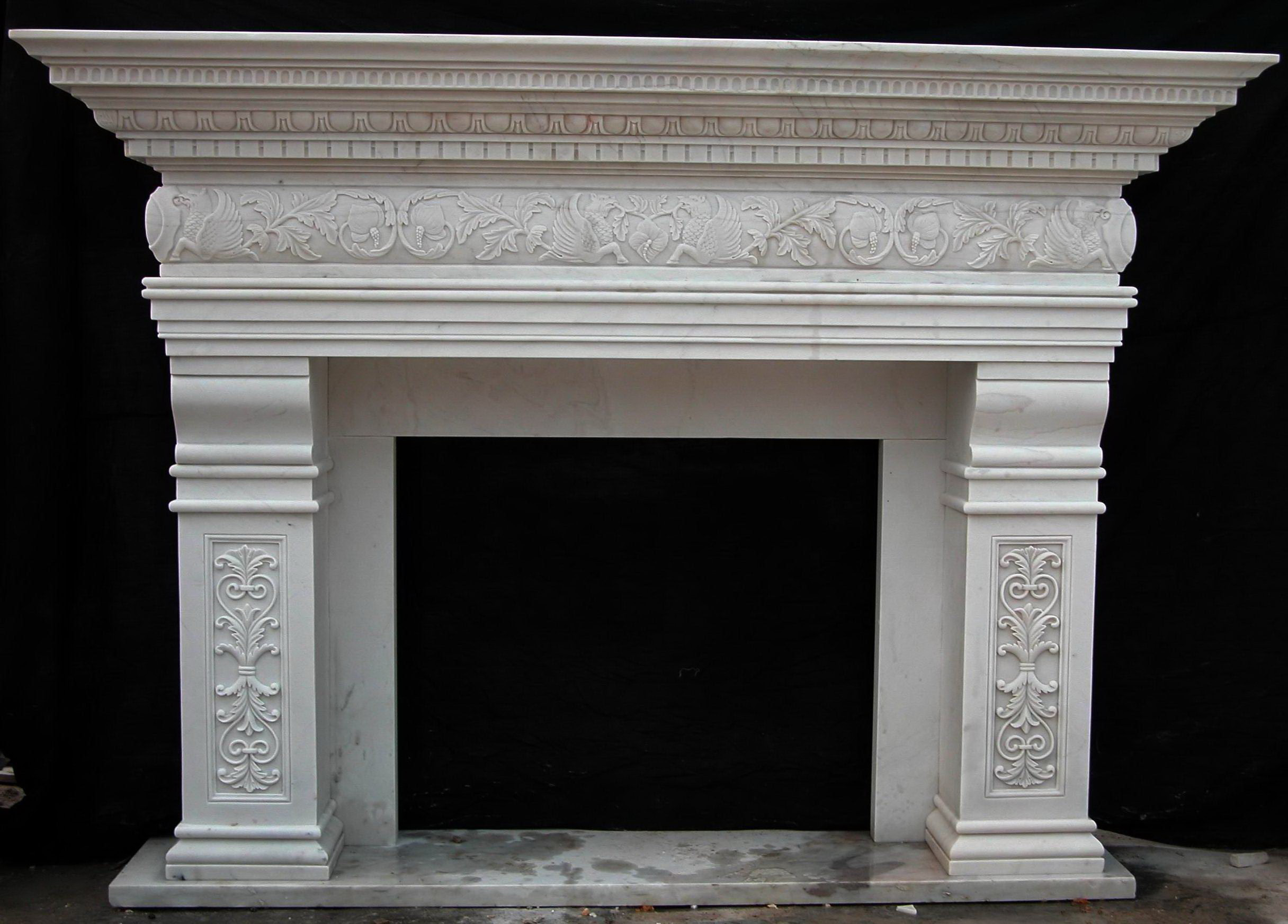 Columbus marble fireplace surround mantels for Marble for fireplace surround