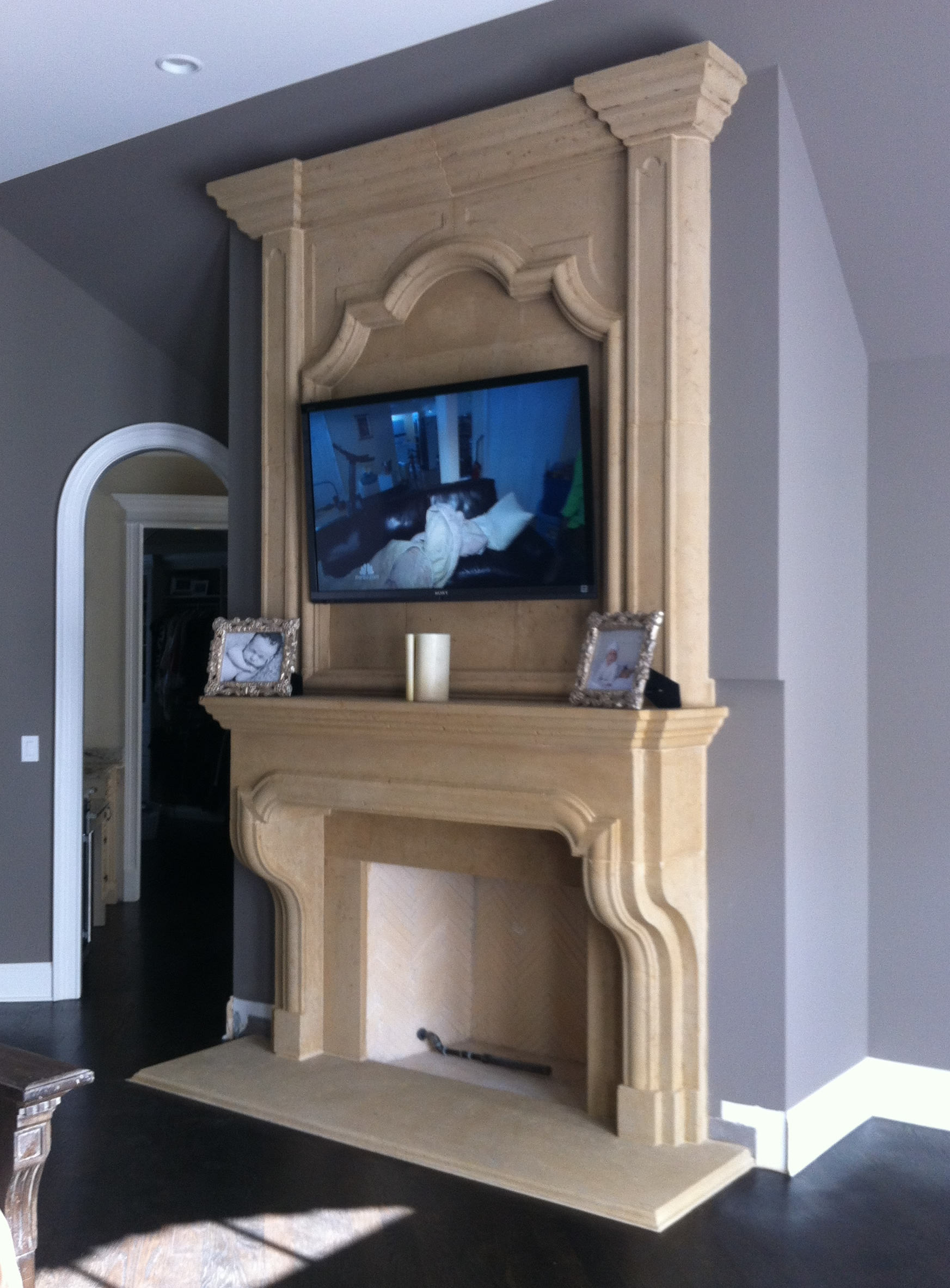 precast mantel omega installation wfurinture fireplace surround stone