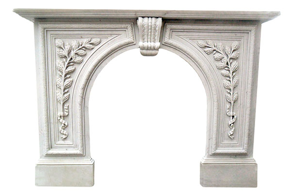 antique marble fireplace mantels. Hand Carved Marble Fireplace Mantel Greenwich White Arched Surround